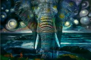 Cielo Stellato con Elefante