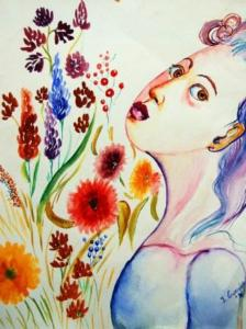 Sguardo tra fiori